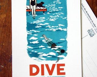 Leisure activity postcard - Dive into the Berkshires