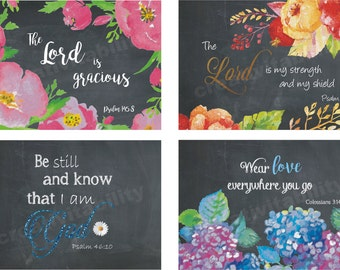 Notecards, Scripture Notecards, Assorted Chalkboard Style