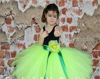 Apple Green Pixie Tutu Full lenght  Skirt - Wedding,birthday,flower girl- Can Be MADE in Other COLOR