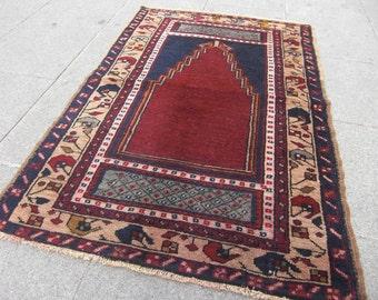 turkish rug , anatolian small old, runner vintage rug for home