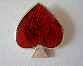 YSL Yves Saint Laurent red heart brooch or pendant - special offer