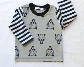 Organic Long Sleeve Boy Shirt,Toddler Shirt