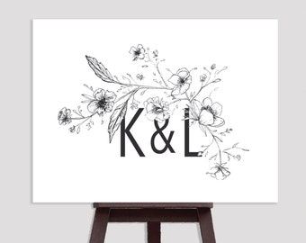 Wedding Sign - Custom Initials
