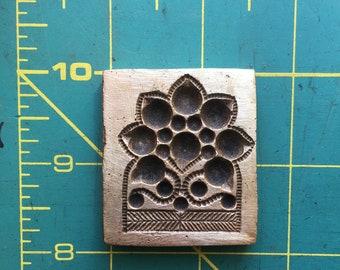 Flower inside a flower vintage bronze die