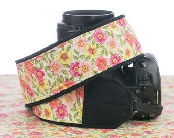 Camera Strap, dSLR, Floral, Canon, Nikon, Replacement Strap, Camera Neck Strap, SLR, Universal Fit, 017