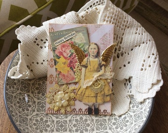 Handmade Birthday Card - Vintage-style Birthday Card - Victorian Birthday Card
