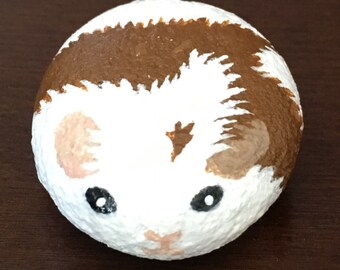 Red and White Stone Guinea Pig