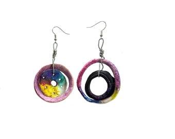 designer earrings - Clay earrings - polymer clay earrings -