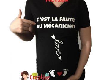 funny MATERNITY shirt cm192  Mechanic