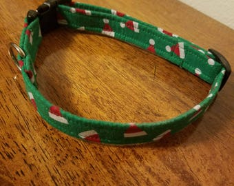 Handmade Christmas dog collar