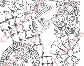 Floral Coloring Page #2