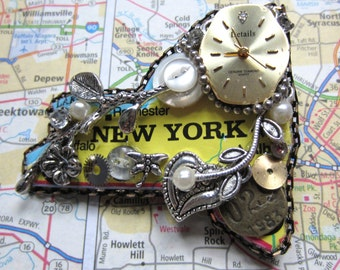 New York Steampunk Brooch