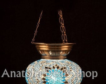 Hanging Mosaic Lamp Turkish Lamp Ottoman Lighting Chandelier Chandelier Ottoman Lantern Lighting Lamp Lamps Laterns Indoor Lighting ASKI-05