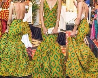 Gorgeous African Print Dress; Ankara Dress