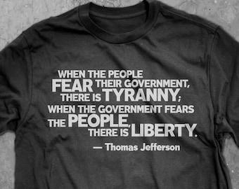 Jefferson quote tee, tyranny, liberty, freedom, patriotic,