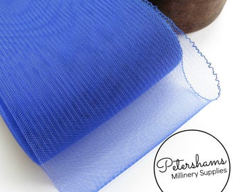 15cm (6 inch) Wide Crinoline (Crin, Horsehair Braid) for Hats, Millinery, and Fascinators - Royal Blue