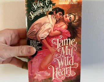 1984 paperback book // Tame My Wild Heart // romance novel // Valentines Day // Galentines Day