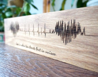 Valentine's Day Gift, SoundWave Art, Wood Sign, Personalized Gift, Husband Gift, Gift For Boyfriend, Wedding Anniversary, Gift For Boyfriend