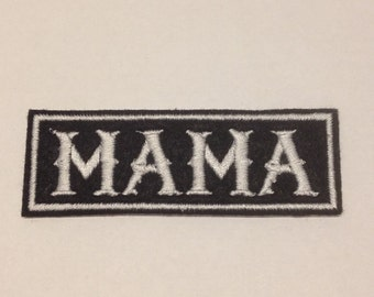 MAMA Embroidered Patch Badge Iron on or sew
