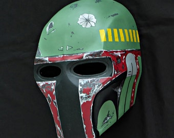 Army of two mask, Paintball airsoft mask, Halloween mask, Steampunk mask, Halloween costume & Star War Cosplay mask, S2 Boba Fett MA23
