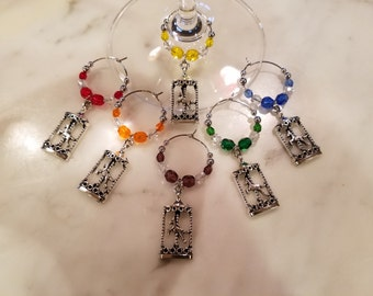 Carousel Horse Merry Go Round  Themed  Wine Charms