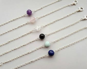 Birthstone Bracelet Gift for Women, Dainty Gemstone Bracelet, Everyday Bracelet, Delicate Bracelet, Minimalist Bracelet, Simple Bracelet