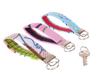 tennis key fob, tennis gift, fabric key chain, key ring, tennis key holder, girlfriend gift, tennis gift for her