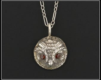 Sterling Silver Owl Pendant Necklace | Vintage Conversion Necklace | Silver Owl Necklace | Silver Necklace | Silver Owl Charm