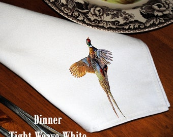 Dinner Napkins with Pheasant - Set of Six