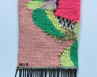 Original Hand Woven Textile Art, Home-decor Housewarming Gift