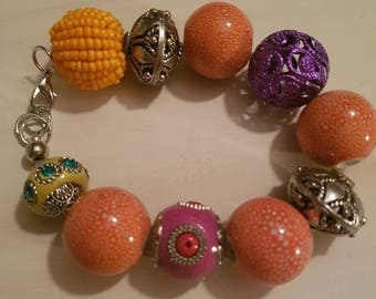 Colourful bracelet with lobster clasp
