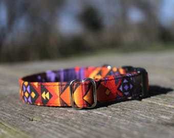 Southwest Collar, Female Dog Collar, Male Dog Collar, Pet Collar, Tribal Dog Collar, Large Dog Collar, Small Dog Collar, Girl Dog Collar