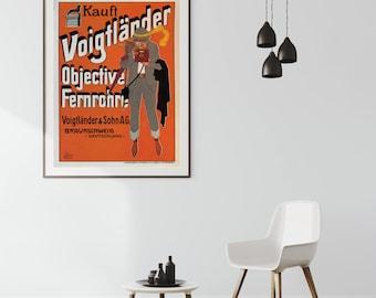 Voigtlander| Voigtlander Camera| Vintage Voigtlander| Vintage Advertising| Vintage Camera| Wall Art Print| Camera Gifts| Poster| VMA050