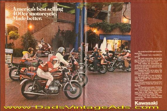 1978 Kawasaki KZ400 - America's best selling 400cc - made better 2-Page Ad #d78da12