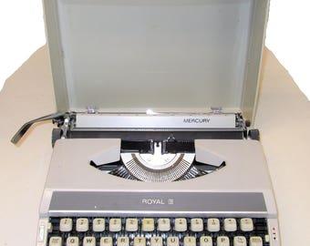 Royal Mercury 1960s portable typewriter