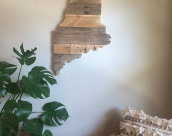 Maine State Sign | Reclaimed Wood | Pallet Sign | Home Decor | Wall Art | Rustic Decor | Barn wood |