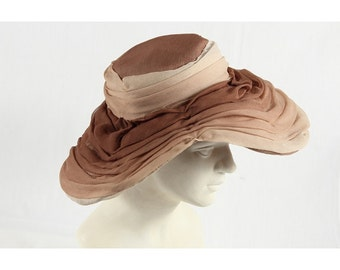 1950s Vintage voile hat