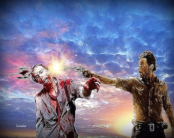 The Sheriff, Rick Grimes Inspired by the Walking Dead Andrew Lincoln   zombie zombielife zombieart zombies