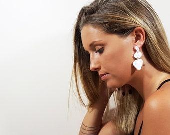 Geometric prespex earrings, perspex jewelry