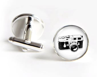 Camera Cufflinks silver 18mm cuff links Gifts for him