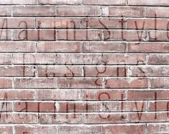 Brick Wall Background, Digital Brick Texture, Vintage Styled Stock Photography, Stock Photo, Stock image, Brick Backdrop, Wall Mockup, 630