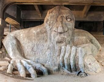 Troll Sculpture image, Seattle Photo, Bridge Troll Picture
