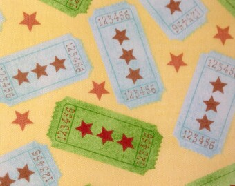 SALE - One Yard of Fabric Material -  Ticket Toss