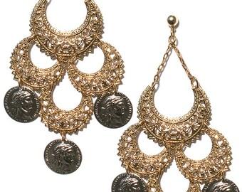 Black Magic Woman Gypsy Hoop Earrings