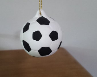 Ceramic Soccer Ball Ornament (#508)
