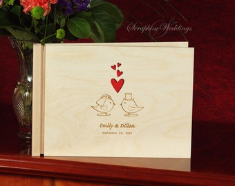 Custom Wooden Wedding Guest Book, Personalized Guest Book, Wooden Guestbook, Rustic Guestbook, Wedding Present, Bride and Groom, Guest Book