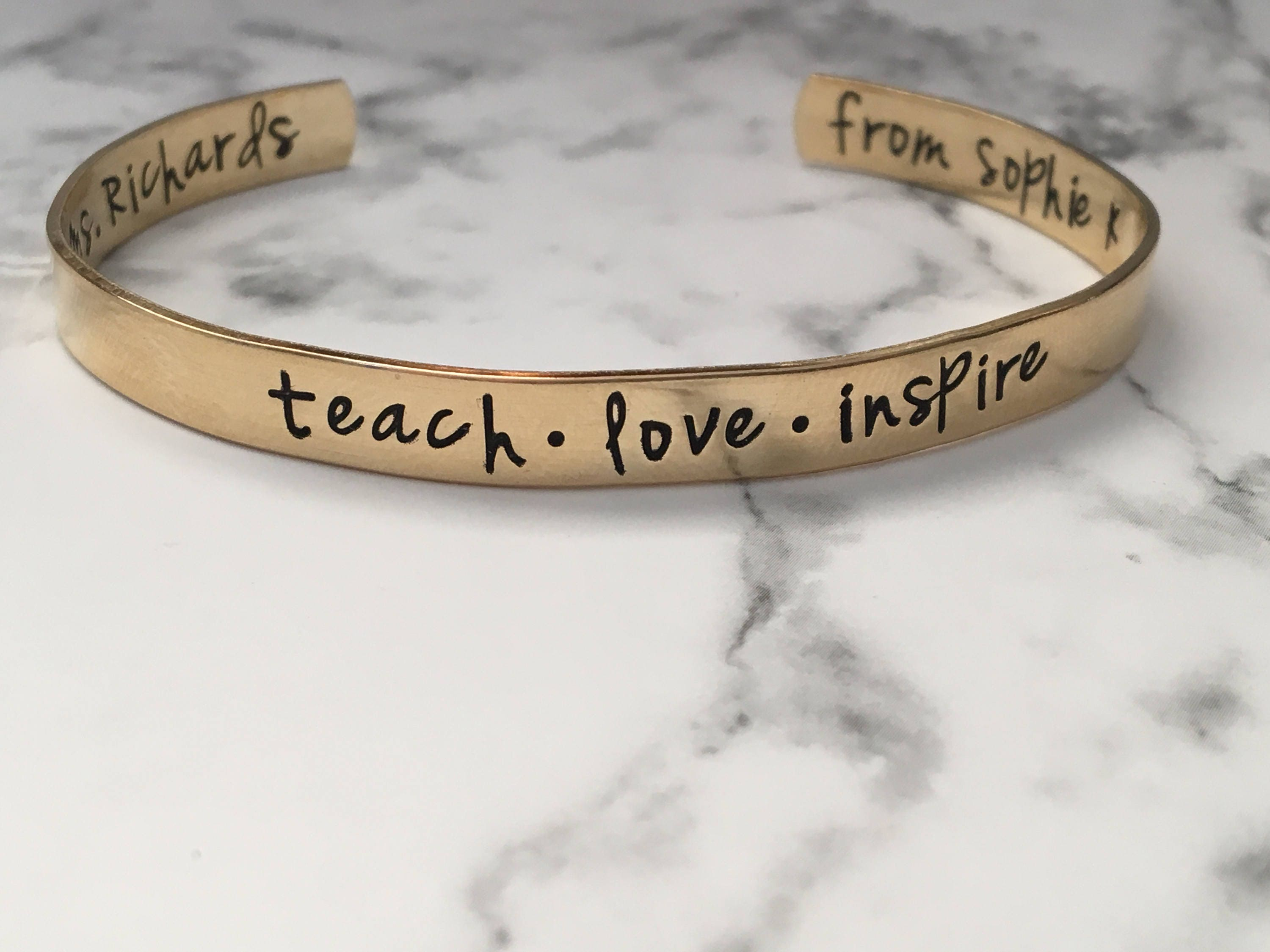 fullxfull custom bangle teacher listing il gift teach bangles zoom inspire bracelet love