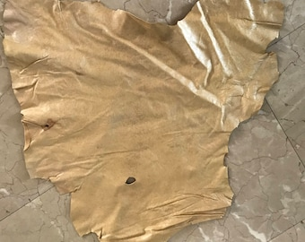Real Leather,sheep skin,soft, full size,GOLD
