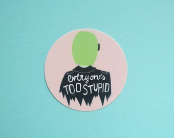 Ghost World Vinyl Round Sticker
