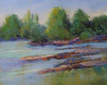 Swift River - 8x10 - Pastel